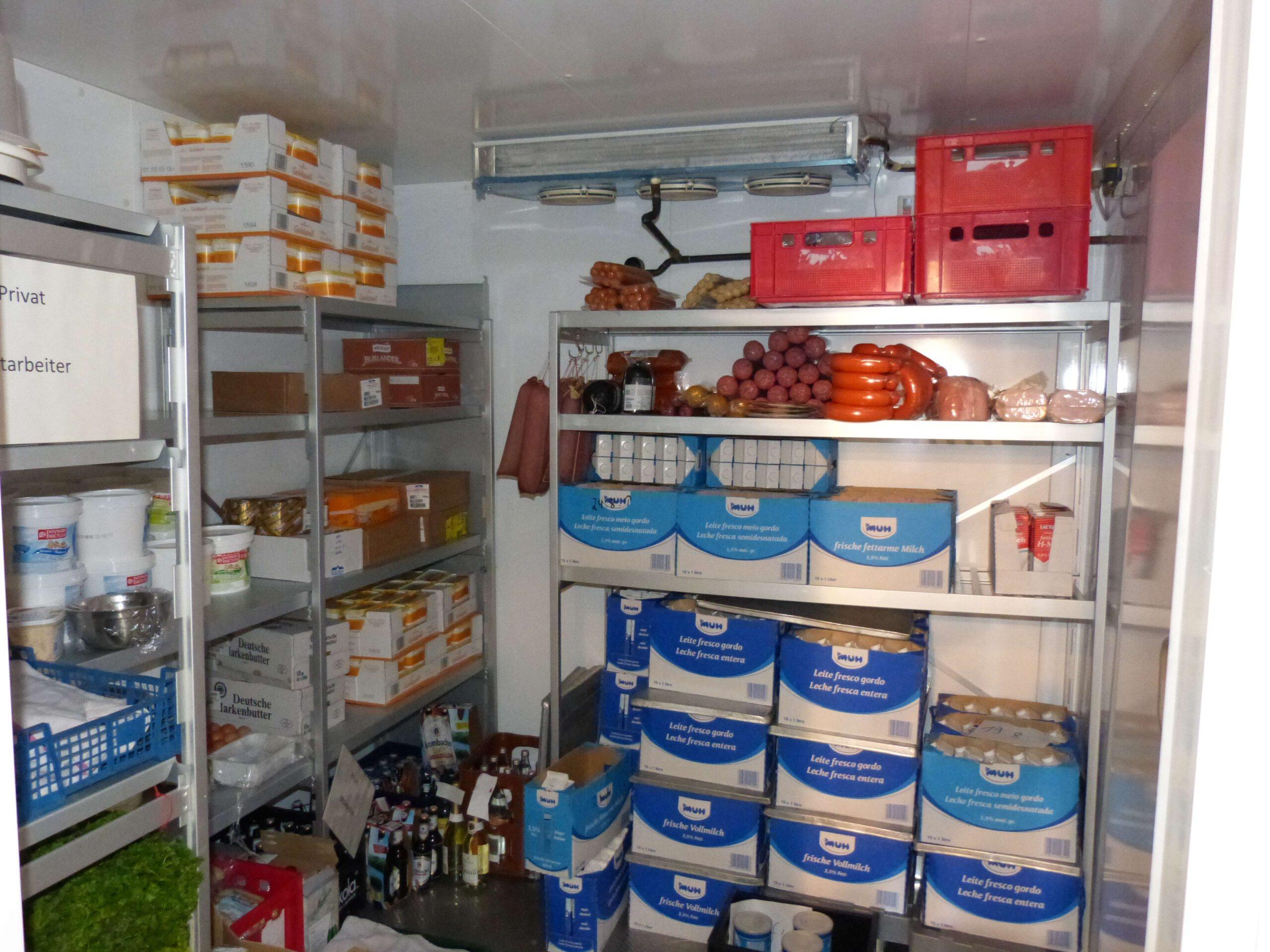 Warme Küche Kühlraum